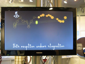 image of screen with bouncing balls