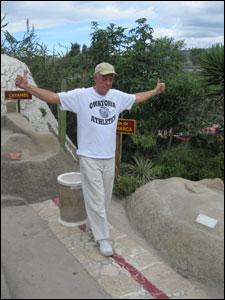 James walks the Equator line